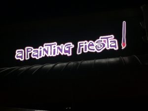 A Painting Fiesta Custom LED Storefront Sign