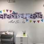 A Painting Fiesta Custom Vinyl Wall Sign