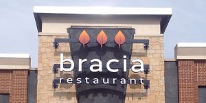 Bracia Custom Storefront Sign