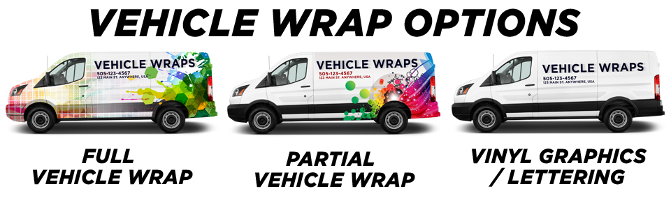 Pattison Vehicle Wraps vehicle wrap options