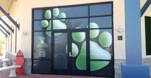 Vinyl Window Decals Paw Prints