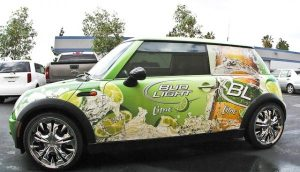 Promotional Bud Light Car Wrap