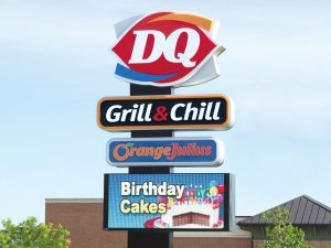 Houston Custom Business Pole Signs 0092 Dairy Queen Bendsen Sign  Graphics W 19mm 80x176 Bloomington IL 101718 1 300x225